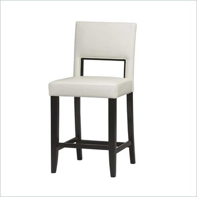 Linon Vega 24 Inch White Counter Stool