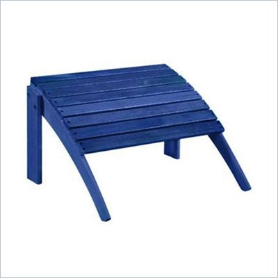 Linon Woodstock Ottoman in Blue