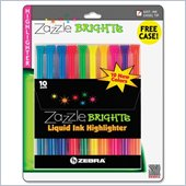 Zebra Pen Fluorescent Liquid Ink Highlighters