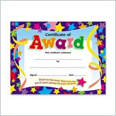 Trend Shoot for the Moon Award Certificate