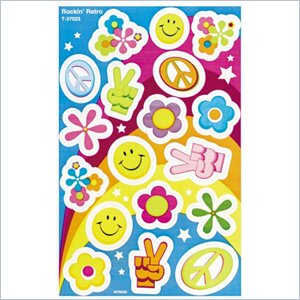 Trend Rockin' Retro Foil Bright Stickers