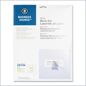 Business Source Block-out Mailing Laser/Inkjet Label