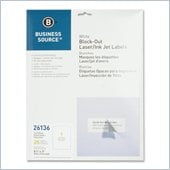 Business Source Block-out Full Sheet Laser/Inkjet Label