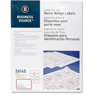 Business Source Laser/Inkjet Name Badge Label