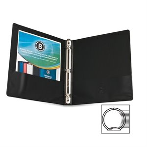 Business Source Round Ring Presentation Binder