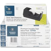 Business Source Value Pack Invisible Tape with Dispenser