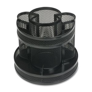 Business Source 62886 Rotary Mesh Organizer
