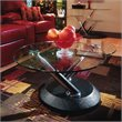 ADD TO YOUR SET: Magnussen Modesto Swivel Free Form Glass Top Cocktail Table in Black