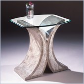 Magnussen Albany Rectangular End Table with Glass Top