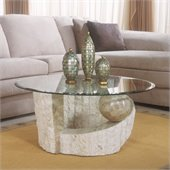 Magnussen Ponte Vedra Round Cocktail Table with Glass Top