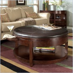 Magnussen Brunswick Round Cocktail Table with Casters