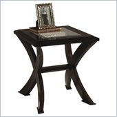 Magnussen Roxboro Wood End Table with Glass Inserts