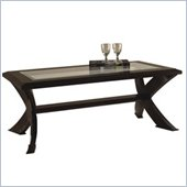 Magnussen Roxboro Rectangular Wood Coffee Table with Glass Inserts