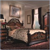 Magnussen Stafford Wood Panel Bed 2 Piece Bedroom Set in Cherry and Umber