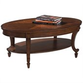 Magnussen Aidan Oval Cocktail Table and End Table Set in Cinnamon Finish