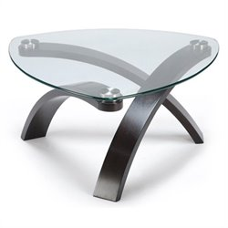 Magnussen Allure Pie Shaped Cocktail Table in Hazelnut Finish