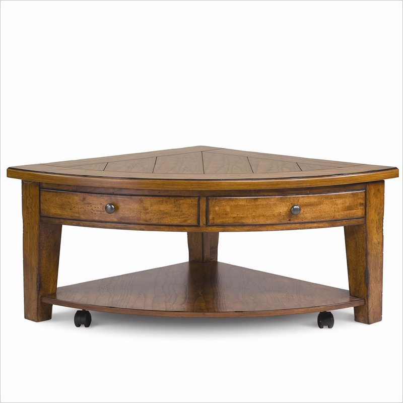 Furniture living room furniture top table shape top table Pie shaped coffee table