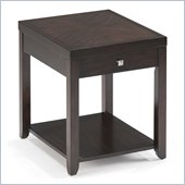Magnussen Scarborough Wood Rectangular End Table in Chestnut