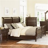Magnussen Belcourt Sleigh Bed in Cherry Finish