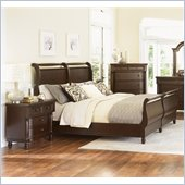 Magnussen Belcourt Sleigh Bed 2 Piece Bedroom Set in Cherry Finish