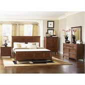 Magnussen Harrison Panel Bed 5 Piece Bedroom Set in Cherry Finish