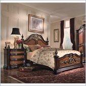 Magnussen Stafford Panel Bed 4 Piece Bedroom Set in Cherry and Umber