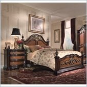 Magnussen Stafford Panel Bed 5 Piece Bedroom Set in Cherry and Umber