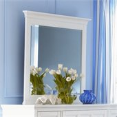 Magnussen Kentwood Landscape Mirror in Painted White Finish