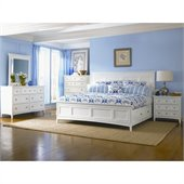 Magnussen Kentwood Storage Panel Bed 6 Piece Bedroom Set in White