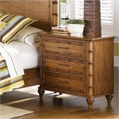 Magnussen Palm Bay 3 Drawer Nightstand in Toffee Finish