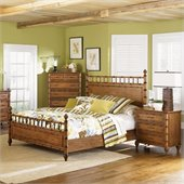 Magnussen Palm Bay Poster Bed 2 Piece Bedroom Set in Toffee Finish