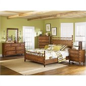 Magnussen Palm Bay Poster Bed 3 Piece Bedroom Set in Toffee Finish
