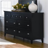 Magnussen Southampton 7 Drawer Double Dresser in Black Finish