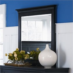 Magnussen Southampton Landscape Mirror in Black Finish