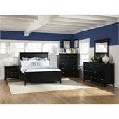Magnussen Southampton Panel Bed 3 Piece Bedroom Set in Black Finish