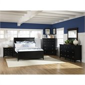 Magnussen Southampton Panel Bed 5 Piece Bedroom Set in Black Finish