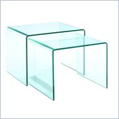 Magnussen Lumeno Glass Nesting End Table