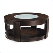 Magnussen Ino Wood and Glass Round Cocktail Table