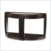Magnussen Ino Wood and Glass Demilune Sofa Table