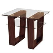 Magnussen Cordoba Rectangular End Table with Glass Top