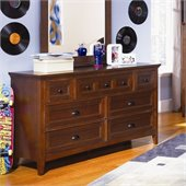 Magnussen Riley Wood 7 Drawer Dresser  in Cherry Finish
