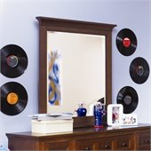 Magnussen Riley Wood Portrait Mirror in Cherry Finish