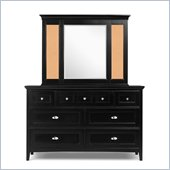 Magnussen Bennett Seven Drawer Dresser and Mirror Set in Black