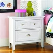 Magnussen Kenley 2 Drawer Nightstand in White Finish