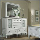 Magnussen Ashby Dresser and Mirror Set in Patina White