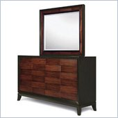 Magnussen Urban Safari Dresser and Mirror Set in Cognac and Black