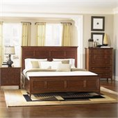 Magnussen Harrison California King Panel Bed With Storage in Cherry