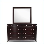 Magnussen Generations Dresser and Mirror Set in Warm Russet