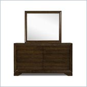 Magnussen Silva Dresser and Mirror Set in Dark Cherry