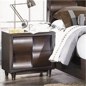 Magnussen Fuqua Wood 2 Drawer Nightstand in Black Cherry